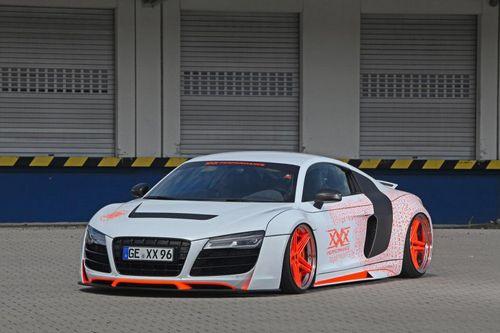 Audi r8 в ярком тюнинге ателье xxx performance