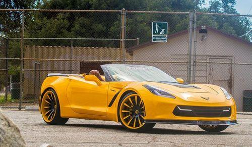 Chevrolet corvette stingray convertible от forgiato