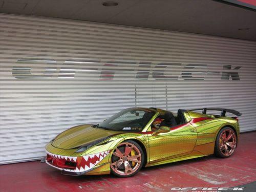 Ferrari 458 italia spider golden shark от office-k