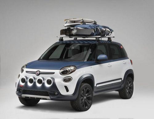 Fiat представил концепт 500l vans для любителей серфинга