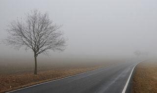 Гаи предупреждает водителей: на дорогах туман и гололед