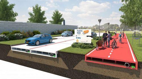 Голландцы готовятся строить автодороги из бутылок