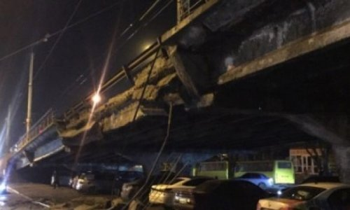 Кличко объяснил обрушение моста вкиеве: «онустал отвремени» - «транспорт»