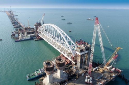 Крымский мост: самая сложная часть работ— позади - «транспорт»