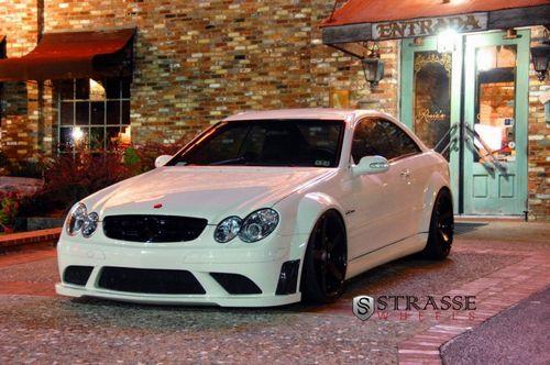 Mercedes-benz clk63 amg black series на дисках strasse wheels