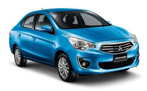 Mitsubishi attrage бюджетный «tai-седан»