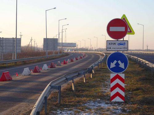 На «краковце» выделили отдельную полосу для автомобилей с украинской регистрацией