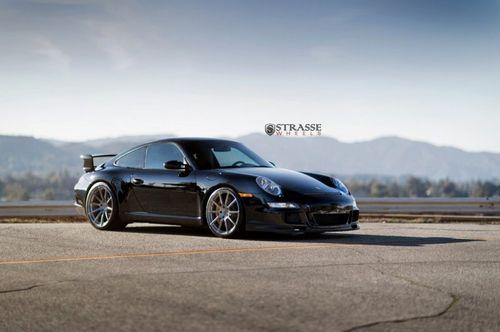 Porsche 997 gt3 на дисках strasse wheels