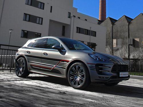 Porsche macan tiger в уникальном оформлении 2m-designs