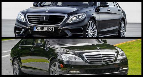 Сравниваем новый w222 mercedes-benz s-класса 2014 года, с w221 s-класса предыдущего поколения