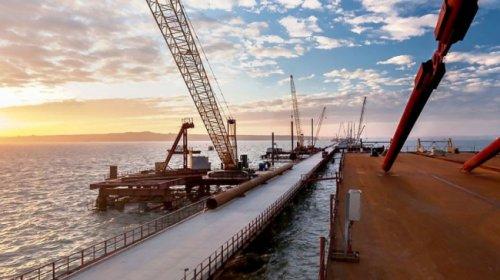 Судоходные арки керченского моста смонтированы на70% - «транспорт»