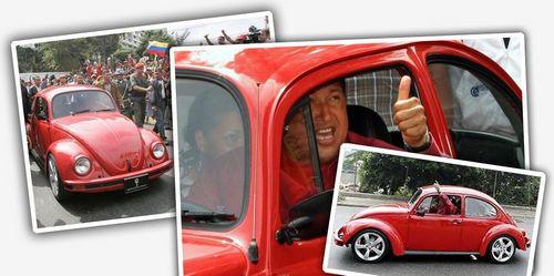 Уго чавес владел скромным автомобилем vw beetle