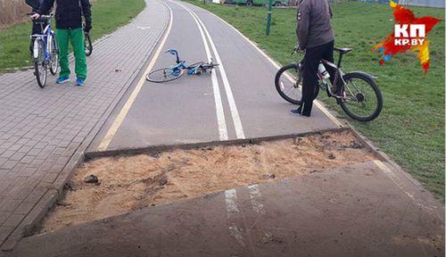 В минске велосипедист отсудил 7,5 тысячи рублей у дорожников