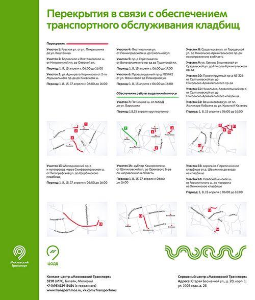 В москве с 1 по 17 апреля будет ограничено движение личного транспорта