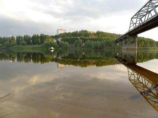 В мозыре восстановлено движение по старому мосту