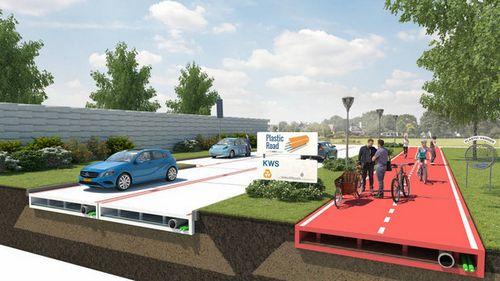 В нидерландах предложили строить пластиковые дороги