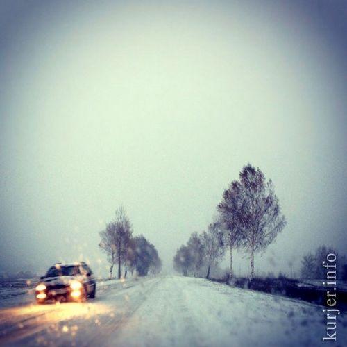В слуцке выпал первый снег: дтп каждые пять минут
