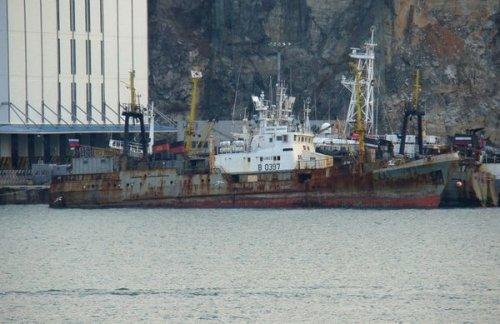 Вохотском море уберегов камчатки горит рыболовное судно - «транспорт»