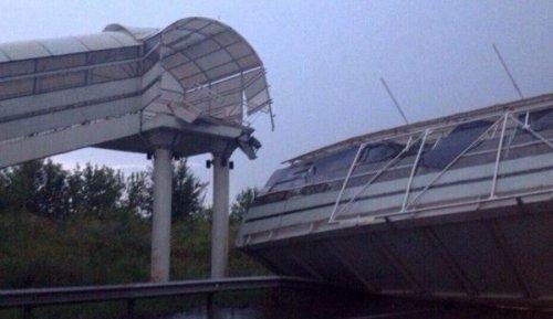 Вовладимирской области перекрыта трасса м-7— обрушился надземный переход - «транспорт»
