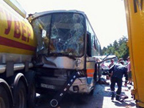 Все пассажиры попавшего в дтп в киевской области белорусского автобуса отправлены домой